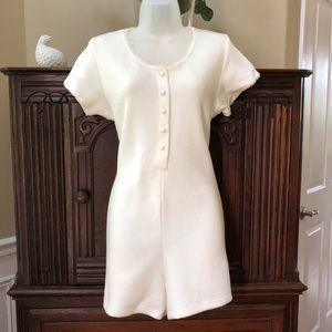 Vintage Victoria's Secret Fleece Romper Pajamas